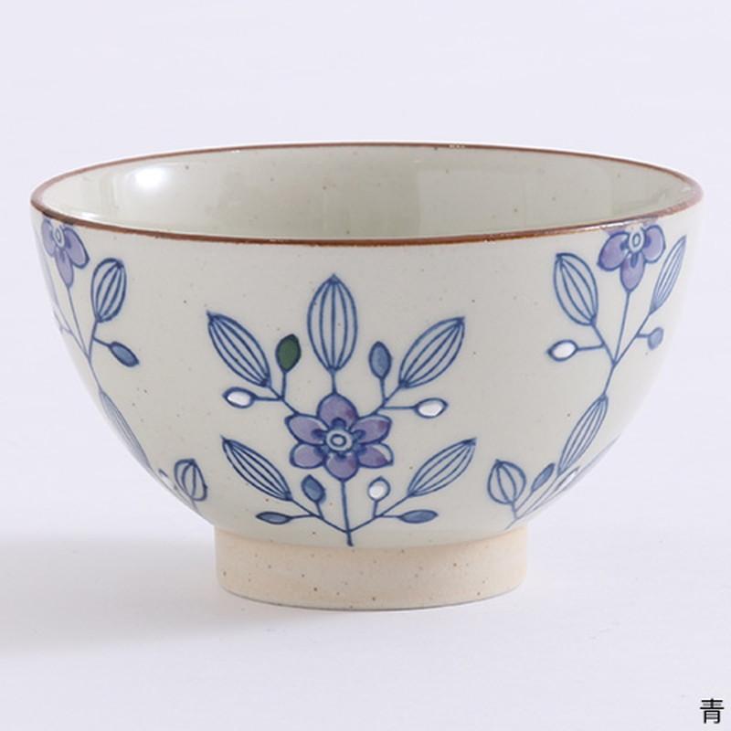 モダンフラワー茶碗
