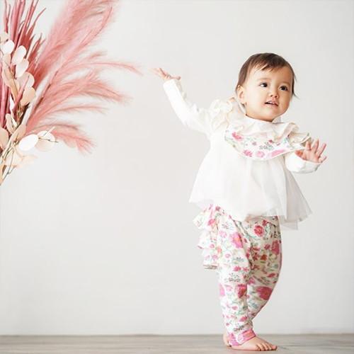 Haruulala 出産祝い2点( スタイ・ロングパンツ) カンタービレ