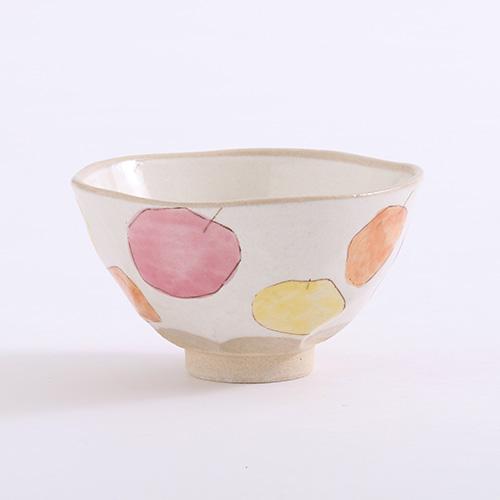 りんご 茶碗小 ピンク