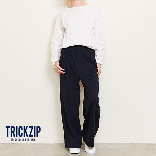 TRICKZIP トリックジップ ロングワイドストレッチポンチ ブラック