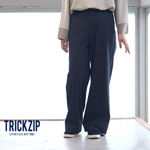 TRICKZIP トリックジップ ロングワイドストレッチポンチ ネイビー