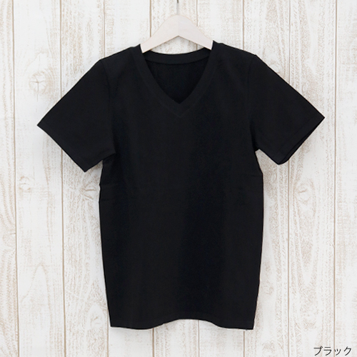 オーガニックコットンサーキュラージャージー|VネックTシャツ
