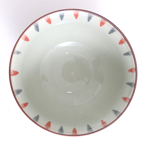 内外二色十草 茶碗小(赤)