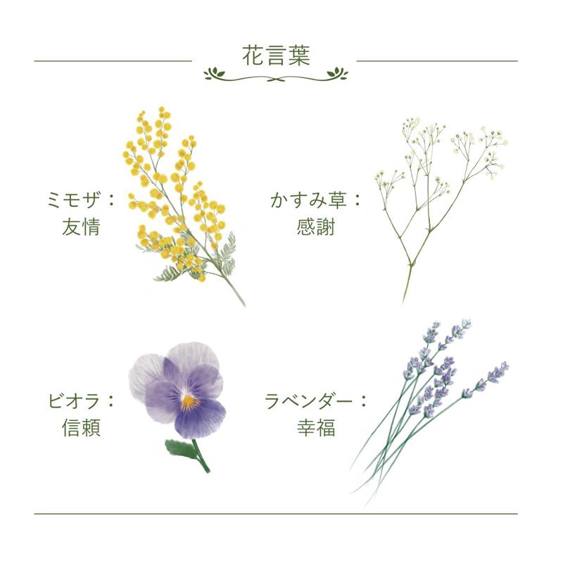 ペアタンブラー(ミモザ・かすみ草)