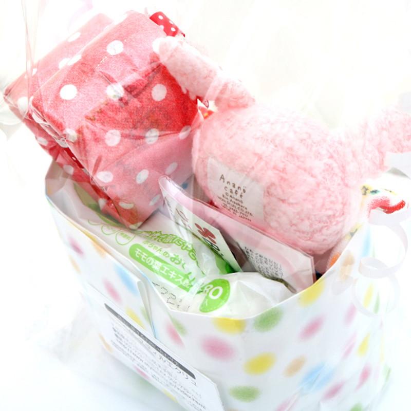 アナノカフェ おむつケーキ お尻ふき ピンク
