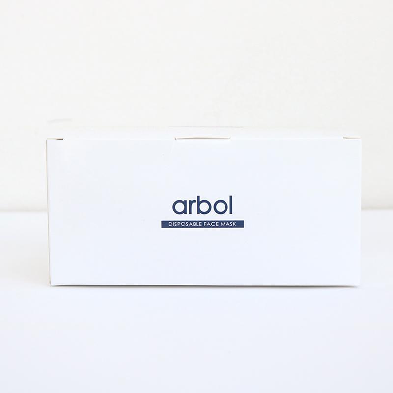 arbol3層不織布マスク 50枚入り〈白色〉