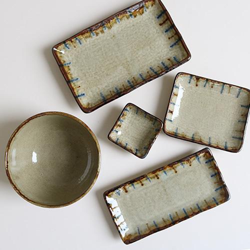 渋草十草焼物皿