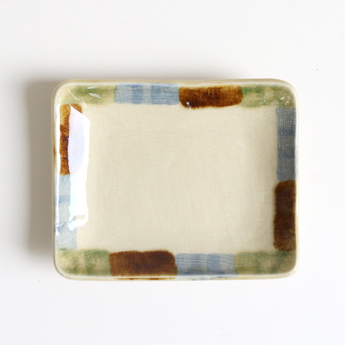 三彩のり皿