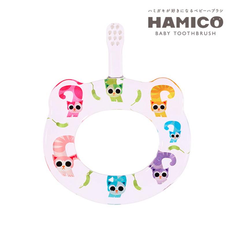 HAMICO(ハミコ)12Animals 7ネコ ベビー歯ブラシ