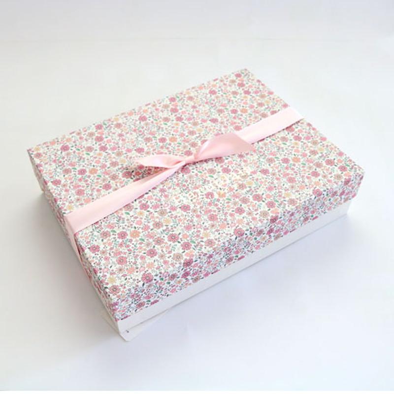 Haruulala 出産祝い3点(スタイ・長袖トップス・ロングパンツ) 花たちの祝福