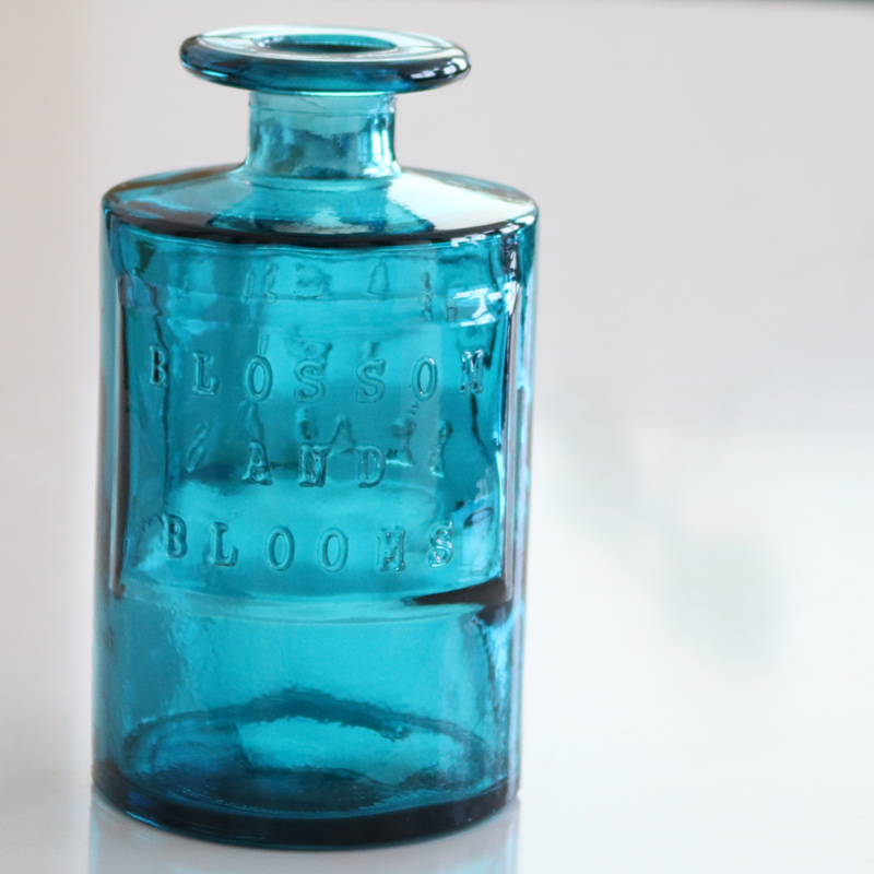 VALENCIA リサイクルガラスフラワーベース SIETE BL