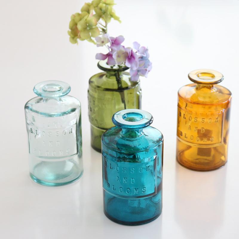 VALENCIA リサイクルガラスフラワーベース SIETE GR