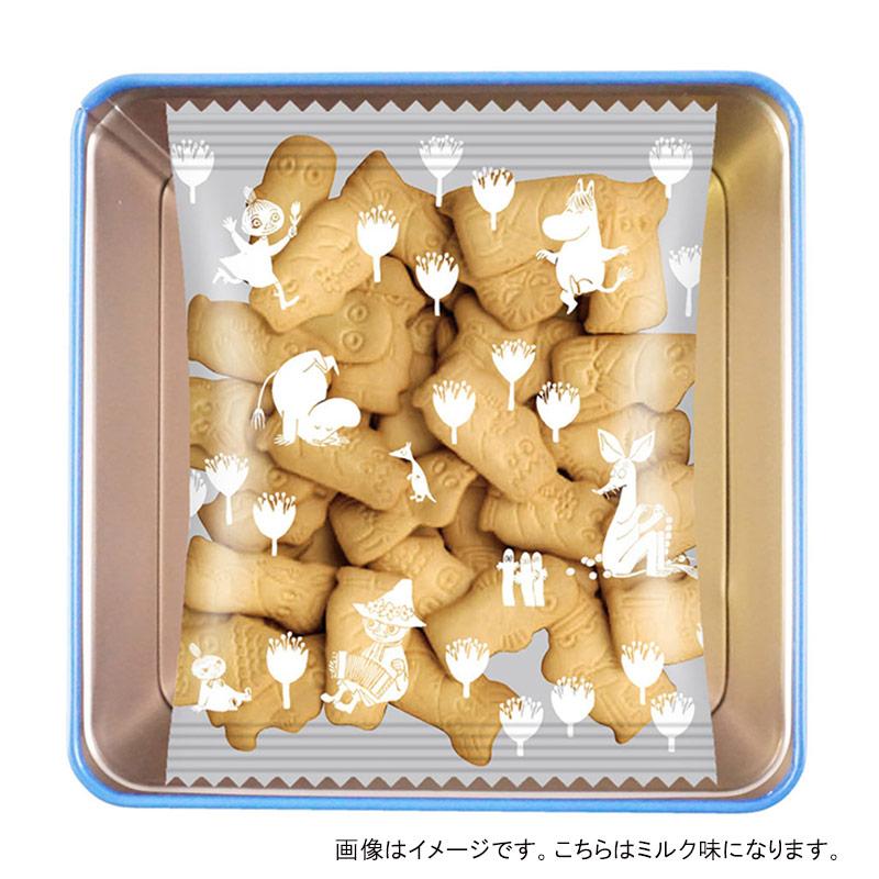 北陸製菓 ムーミンビスケット缶 ミルク