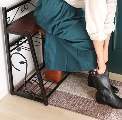 【nico】ニコ ブーツ収納チェア