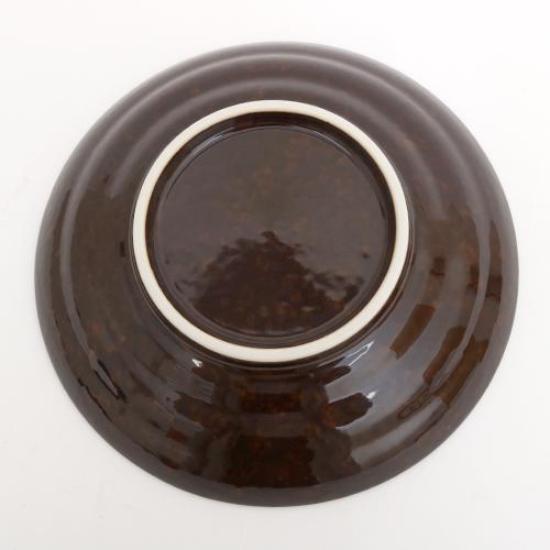 ブラウン花三島7.5盛皿