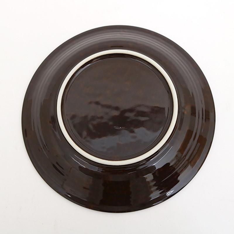 ブラウン花三島6.5深皿