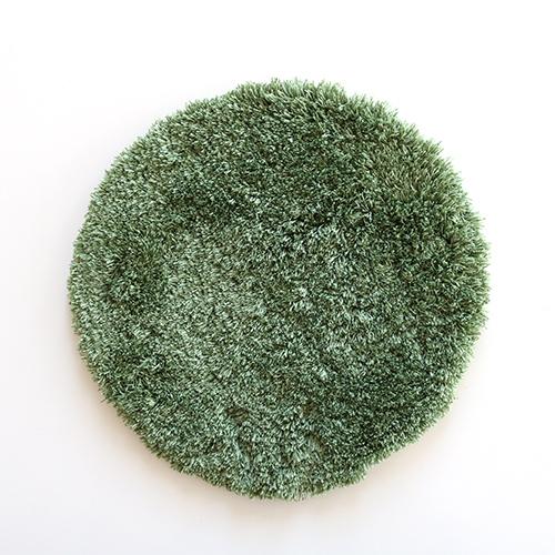 チェアパッドスレッド丸35cm グリーン
