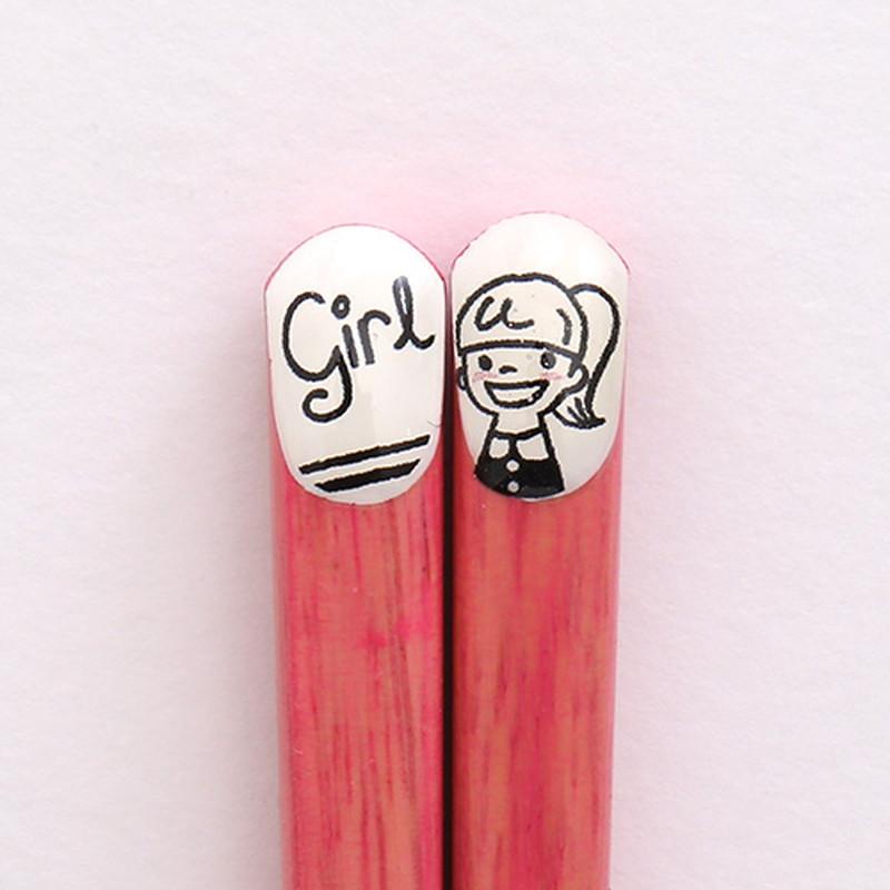 ファミリー箸 Girl18cm 【名入れサービス付き】