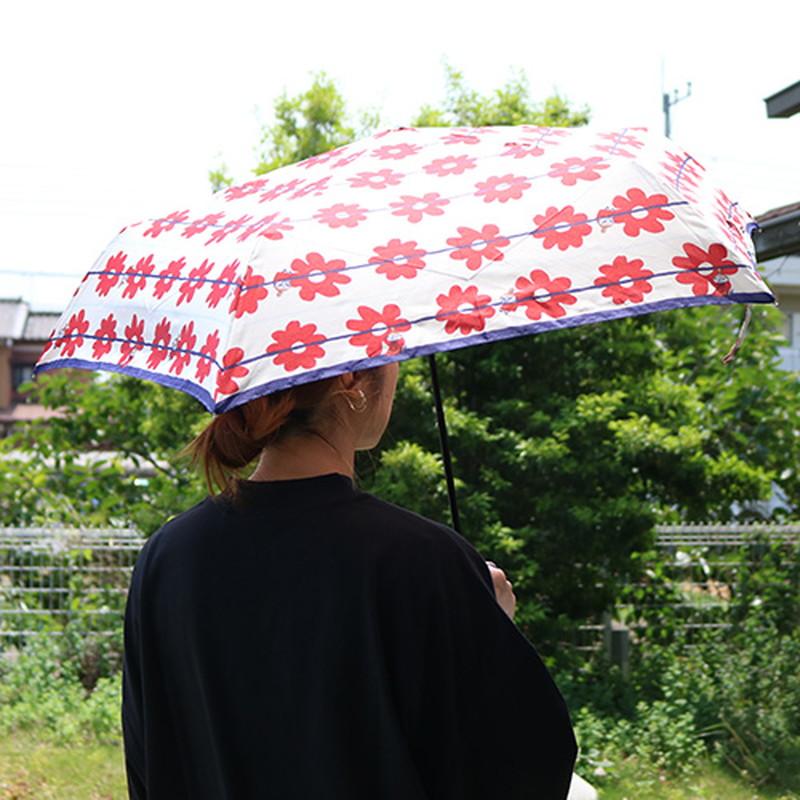 折傘 リトルミイ 花ボーダー