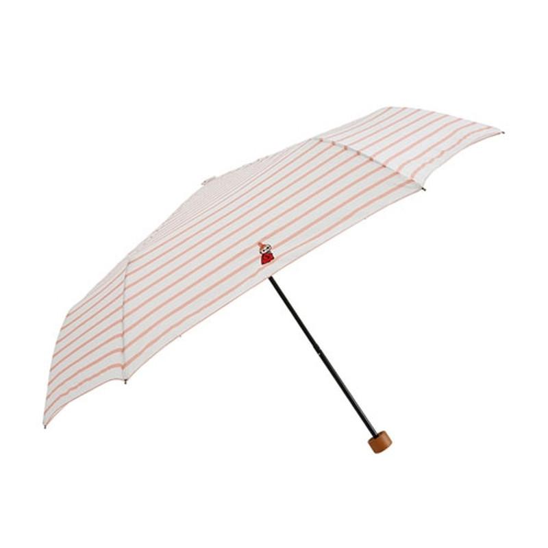 折傘 リトルミイ ボーダー ピンク
