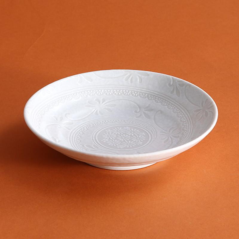 白雪花三島7.5盛皿