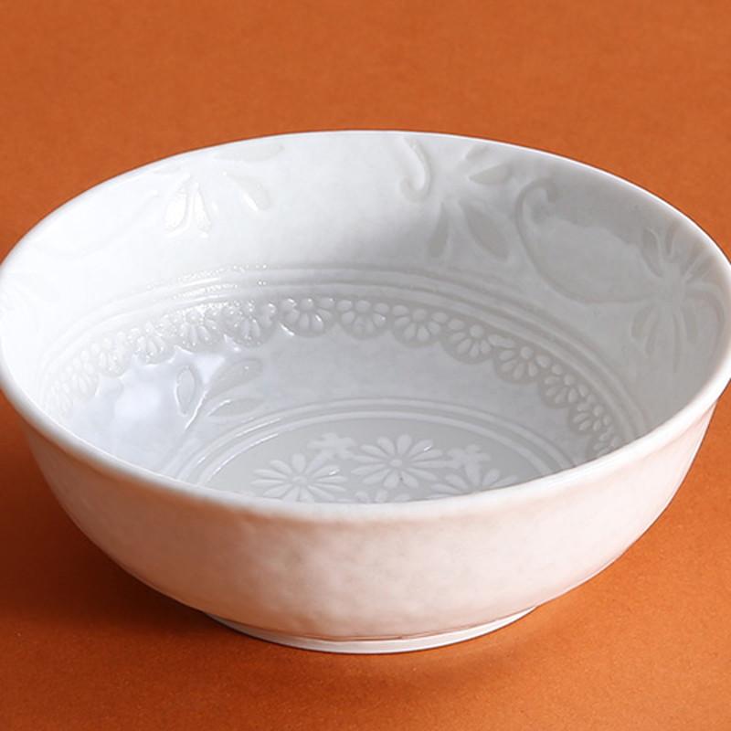 白雪花三島5寸鉢