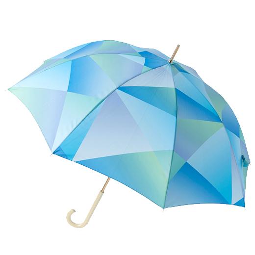 estaa長傘 プリズム ブルー (晴雨兼用/UV)