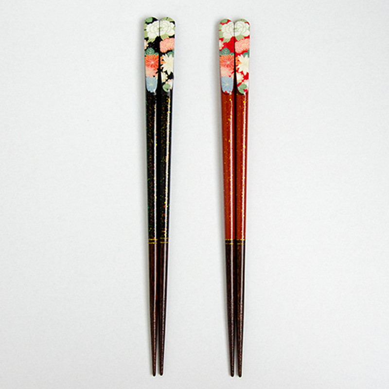 千姫箸ブラック 23cm 【名入れサービス付き】