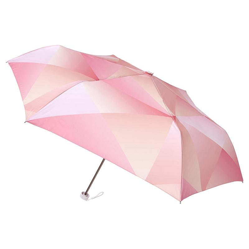 estaa折りたたみ傘 プリズム レッド (晴雨兼用/UV)