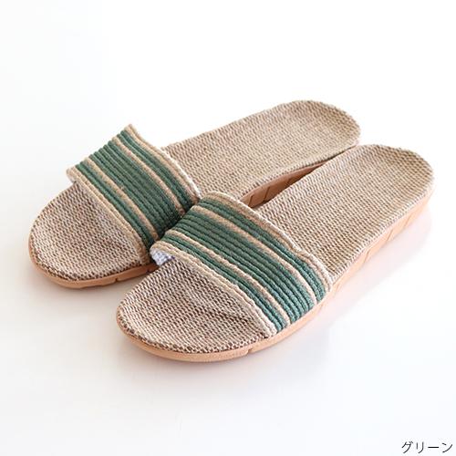 【SALE】HD 麻スリッパ スリーライン