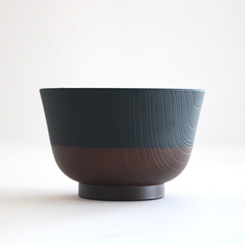 日本伝統色 塗分汁椀 漆黒