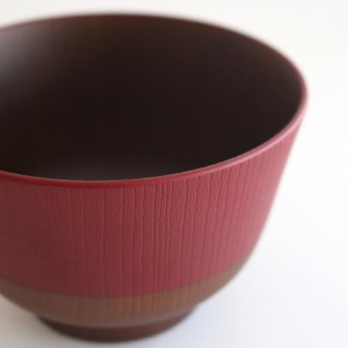 日本伝統色 塗分汁椀 古代朱