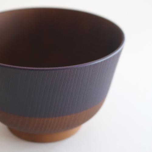 日本伝統色 塗分汁椀 茄子紺