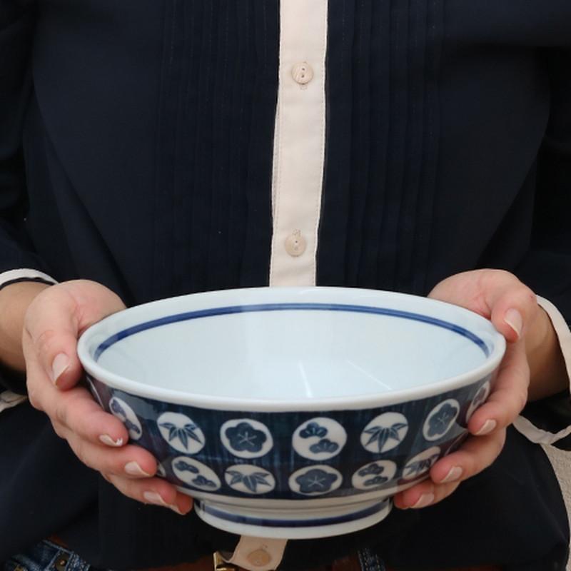 染付松竹梅 讃岐うどん丼(大)