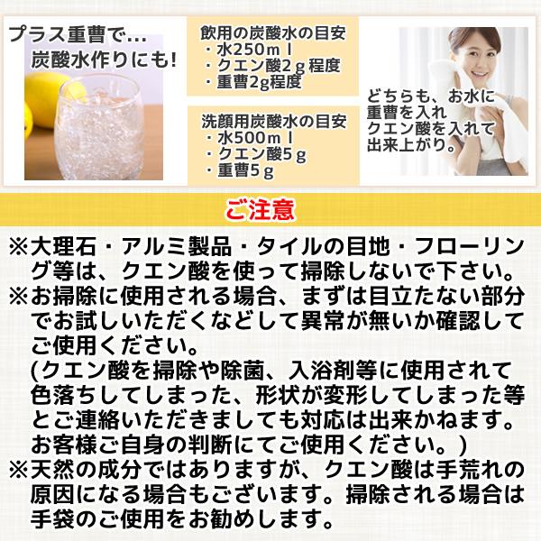 食品添加物グレード:クエン酸(無水)950g×5