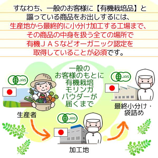 滋賀県産 有機 モリンガパウダー100g  オーガニック 国産