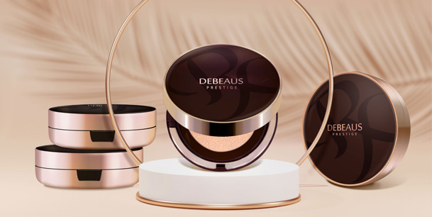DEBEAUS ディビュース クッションファンデーション 本体15g+レフィル15g付 SPF50+/PA+++