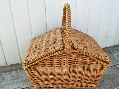 スモークフタ付き ピクニックバスケット アウトレットセール