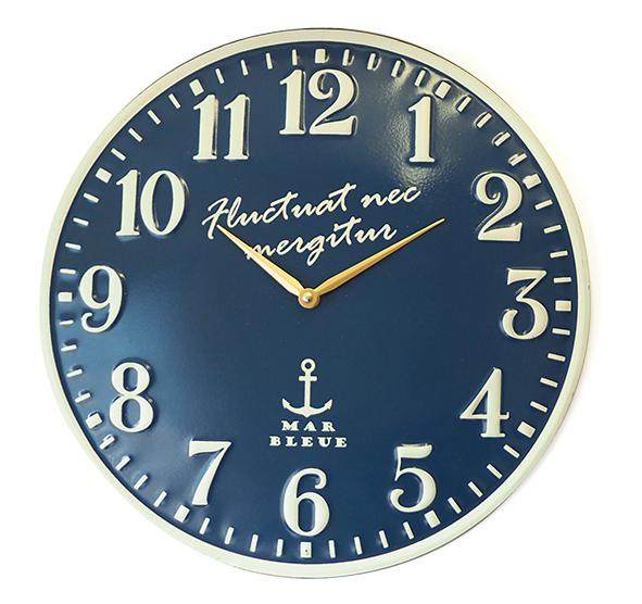 エンボスメタルマリンウォールクロック 30cm掛け時計