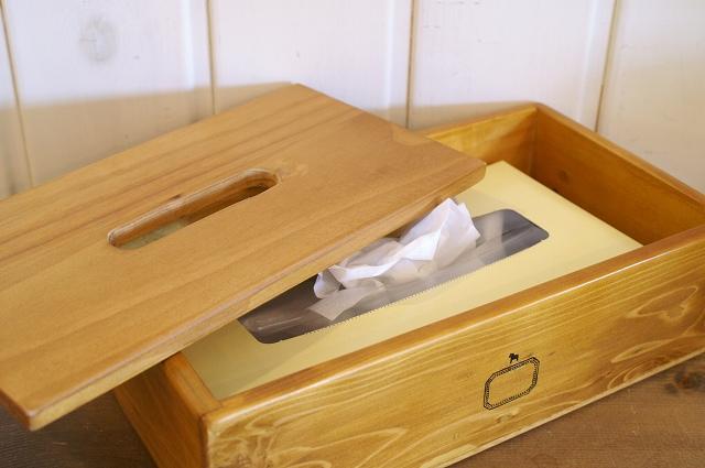 ティッシュペーパーボックス  アクシス A356F 木製ティッシュボックス