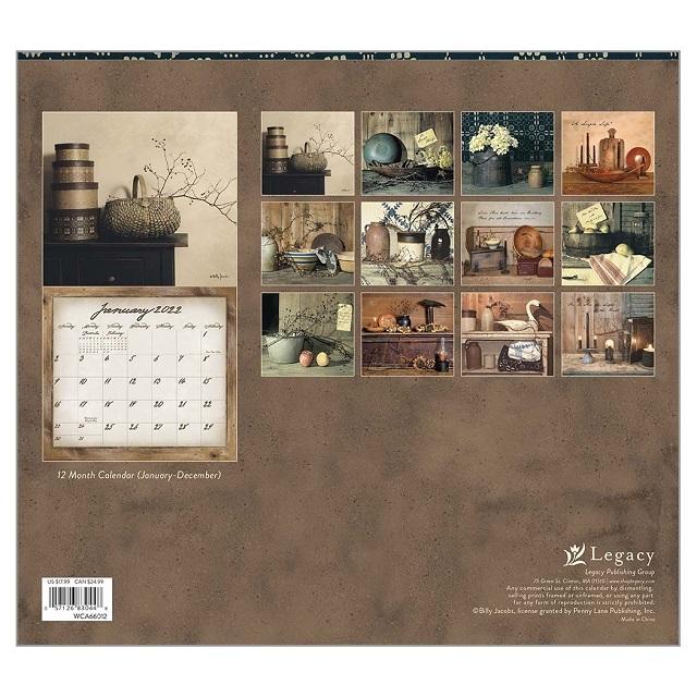 USAカレンダー2022 Legacy レガシイ Simple Tresuresシンプルトレジャー