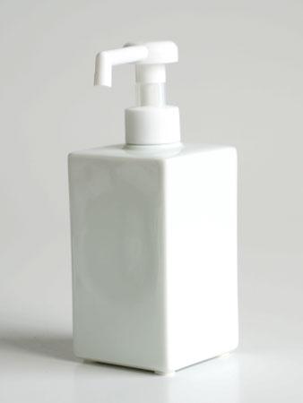 スクエアシャワー300 除菌ディスペンサー 陶器のシャワーボトル  日本製 08041