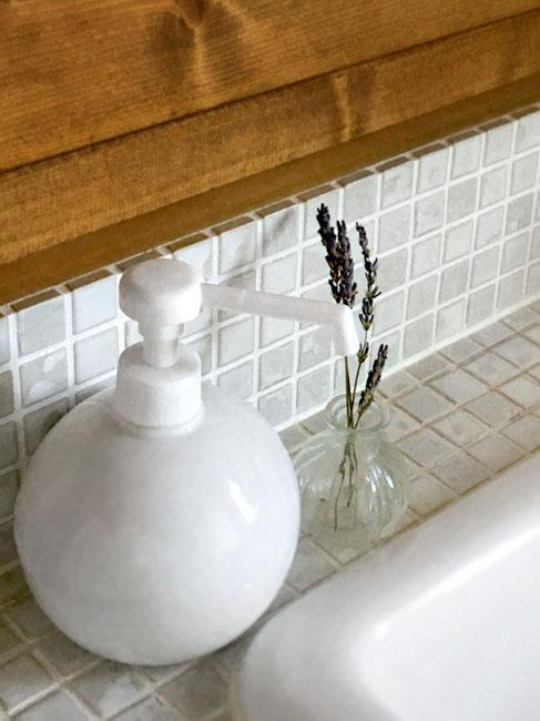 グローブシャワーボトル350 除菌ディスペンサー 陶器のシャワーボトル  日本製 08751