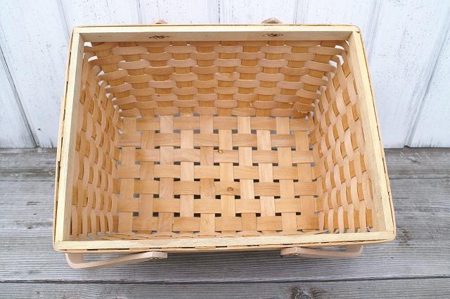 ウッドスライスバスケット 34×26×H17.5