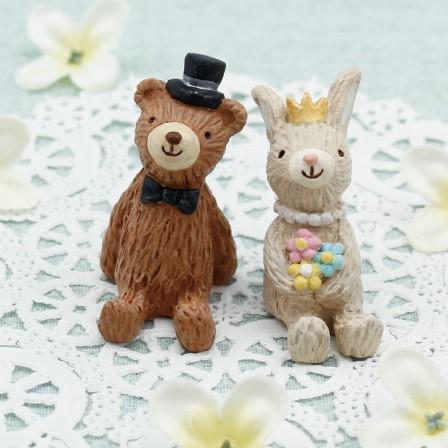 セルバロマンティカ ウエディングS フォレスト(クマ&ウサギ) <br>ミニチュアアニマルマスコット