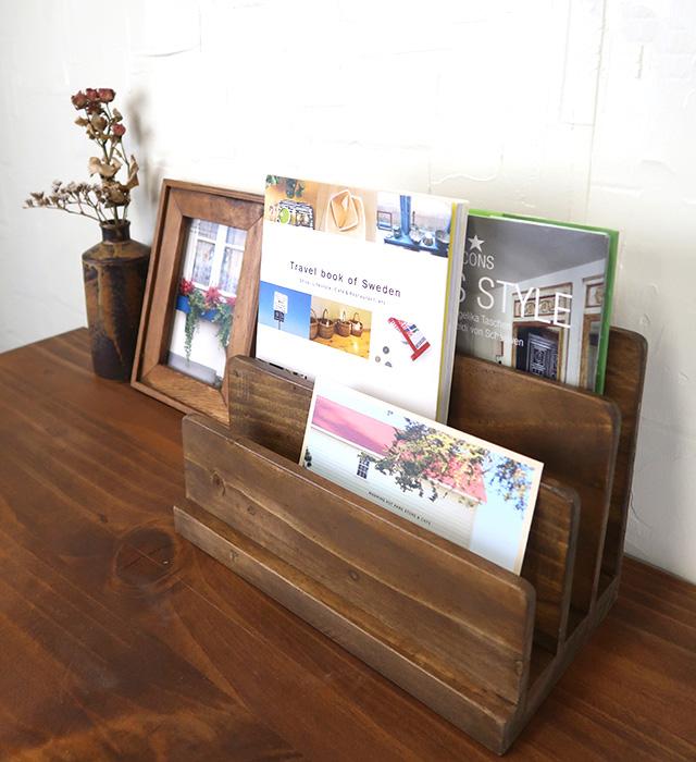 木製本立て ブックスタンド 飾り棚 クレエ