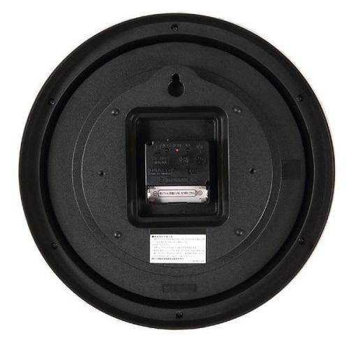 電波時計 リースグレイ ナチュラルなイラストの掛け時計