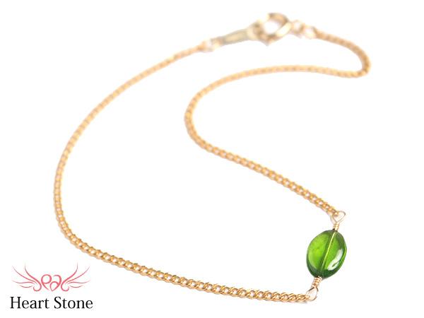 宝石質クロム・ダイオプサイト オーバルカット ブレスレット