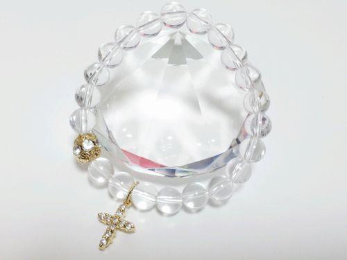 【貴方はどれを選ぶ?+。】浄化といったら透明で綺麗なクリスタル水晶★シンプルブレスレット♪