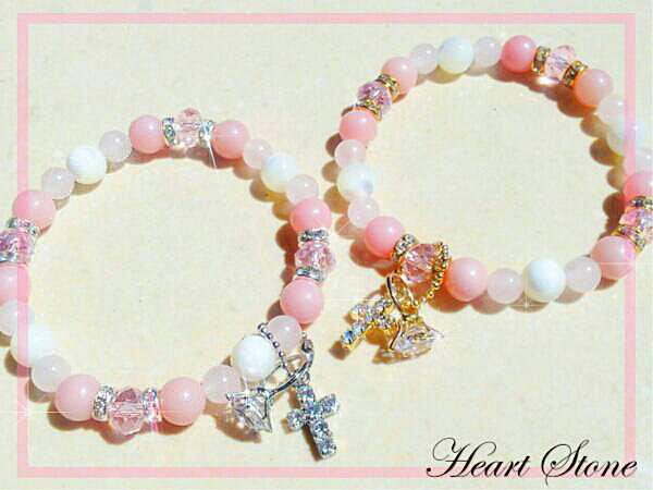 愛情と魅力を育む縁結びのピンクオパール×マザーオブパールAAA☆Maternal love fairy★